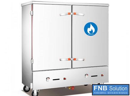 Tủ nấu cơm công nghiệp 12 khay dùng gas hoặc điện