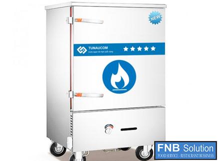 Tủ nấu cơm công nghiệp 6 khay dùng gas hoặc điện