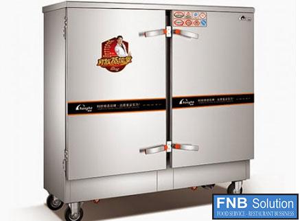 Tủ nấu cơm công nghiệp 20 khay dùng điện